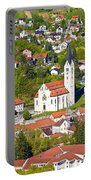 Town Of Krapina Church Vertical View Portable Battery Charger