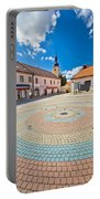 Town Of Ludbreg Square Vertical View Portable Battery Charger