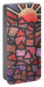 Town Of The Rising Sun Portable Battery Charger by Jutta Maria Pusl