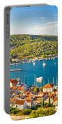Town Of Vis Panorama From Hill Portable Battery Charger