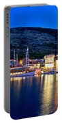 Town Of Vis Waterfront Evening Panorama Portable Battery Charger