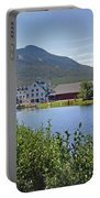 Town Square By The Pond At Waterville Valley Portable Battery Charger