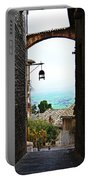 Town View In Italy Portable Battery Charger