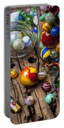 Toys And Marbles Portable Battery Charger by Garry Gay