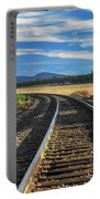 Tracks At Crater Lake Portable Battery Charger