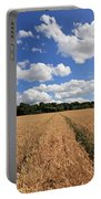 Tracks Through Wheat Field Portable Battery Charger