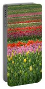 Tractor Among The Tulips Portable Battery Charger