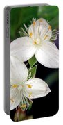 Tradescantia Flower Portable Battery Charger
