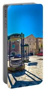 Traditional Dalmatian Town Of Tisno Square Portable Battery Charger