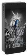 traditional dancer Blue Portable Battery Charger