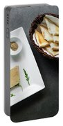 Traditional French Foie Gras Pate And Toast Starter Snack Platte Portable Battery Charger