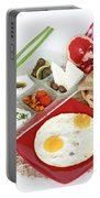 Traditional Israeli Breakfast Portable Battery Charger