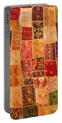 Traditional Patchwork Tapestry Portable Battery Charger