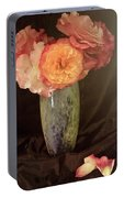 Traditional Rose Still Life Portable Battery Charger