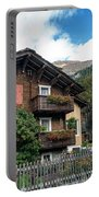 Traditional Swiss Alps Houses In Vals Village Alpine Switzerland Portable Battery Charger