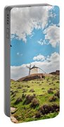 Traditional White Windmills  Portable Battery Charger