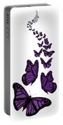 Trail Of The Purple Butterflies Transparent Background Portable Battery Charger