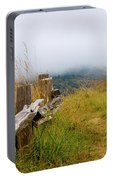 Trail With Coastal Morning Fog Portable Battery Charger