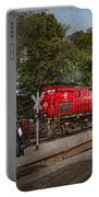 Train - Diesel - Look Out For The Locomotive  Portable Battery Charger