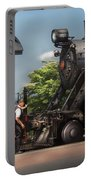 Train - Engine - Alllll Aboard Portable Battery Charger by Mike Savad