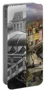Train Station - Wuppertal Suspension Railway 1913 - Side By Side Portable Battery Charger