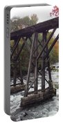Train Tracks Over The Winnipesaukee River Portable Battery Charger