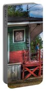 Train - Yard - The Train Station Portable Battery Charger by Mike Savad