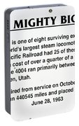 Trains Mighty Big Boy Signage Portable Battery Charger