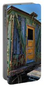 Trains Wooden Box Car Yellow Door Portable Battery Charger