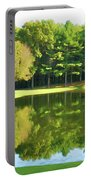 Tranquil Landscape At A Lake 2 Portable Battery Charger