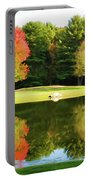 Tranquil Landscape At A Lake 3 Portable Battery Charger