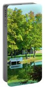 Tranquil Landscape At A Lake 4 Portable Battery Charger