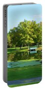 Tranquil Landscape At A Lake 5 Portable Battery Charger