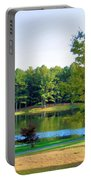 Tranquil Landscape At A Lake 6 Portable Battery Charger