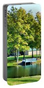 Tranquil Landscape At A Lake 8 Portable Battery Charger