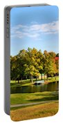 Tranquil Landscape At A Lake 9 Portable Battery Charger