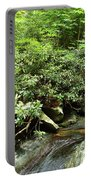 Tranquil Mountain Laurel Stream In The Great Smoky Mountains National Park Portable Battery Charger