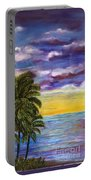 Tranquility At Kapoho Last Sunset Portable Battery Charger