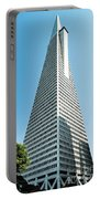 Transamerica Pyramid In San Francisco, California Portable Battery Charger