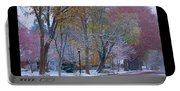 Transitions Autumn To Winter Snow Poster Portable Battery Charger