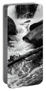 Trap Falls In Ashby Ma Black And White 9 Portable Battery Charger