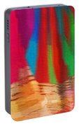 Travel Shopping Colorful Scarves Abstract Series India Rajasthan 1b Portable Battery Charger