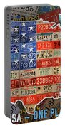 Travel The Usa One Plate At A Time License Plate Art By Design Turnpike Portable Battery Charger