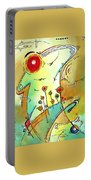 Traveling Band Original Painting Madart Portable Battery Charger by Megan Duncanson