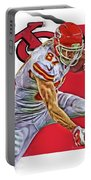 Travis Kelce Kansas City Chiefs Oil Art Portable Battery Charger