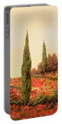 Tre Case Tra I Papaveri Portable Battery Charger by Guido Borelli