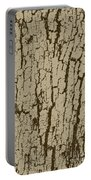 Tree Bark Texture Brown Portable Battery Charger