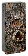 Tree Bark With Knothole Portable Battery Charger