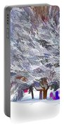 Tree Branches Covered By Snow  Portable Battery Charger