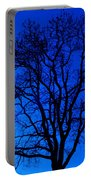 Tree In Blue Sky Portable Battery Charger